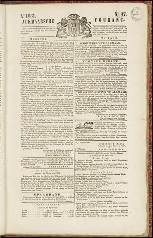 Alkmaarsche Courant 1851-04-28