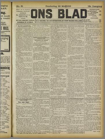 Ons Blad : katholiek nieuwsblad voor N-H 1918-05-23