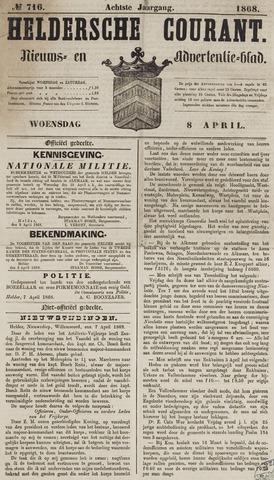 Heldersche Courant 1868-04-08