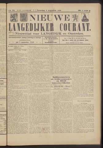 Nieuwe Langedijker Courant 1924-08-09