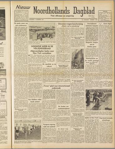 Nieuw Noordhollandsch Dagblad : voor Alkmaar en omgeving 1947-08-11