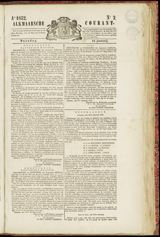 Alkmaarsche Courant 1852-01-12