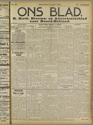Ons Blad : katholiek nieuwsblad voor N-H 1912-04-09