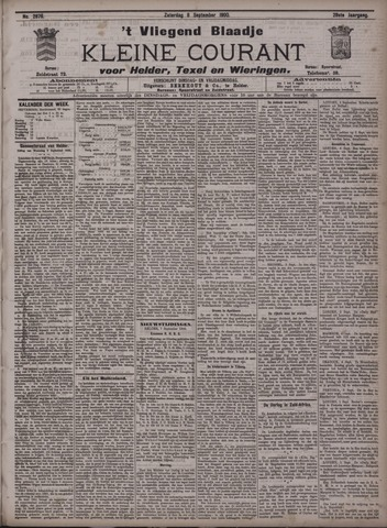 Vliegend blaadje : nieuws- en advertentiebode voor Den Helder 1900-09-08