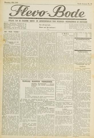 Flevo-bode: nieuwsblad voor Wieringen-Wieringermeer 1949-05-04