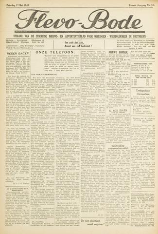Flevo-bode: nieuwsblad voor Wieringen-Wieringermeer 1947-05-17