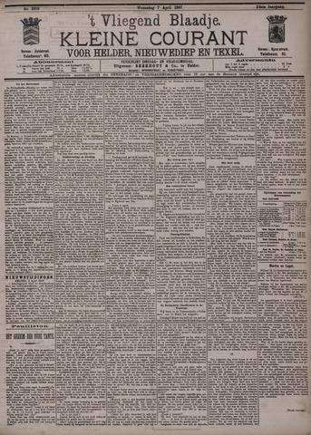 Vliegend blaadje : nieuws- en advertentiebode voor Den Helder 1897-04-07