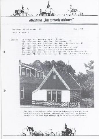 Informatieblad stichting Historisch Niedorp 1996-05-01