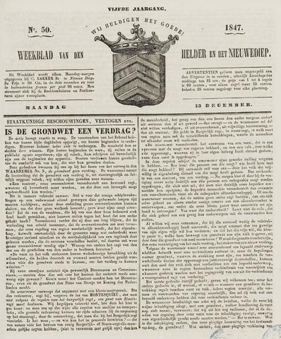 Weekblad van Den Helder en het Nieuwediep 1847-12-13