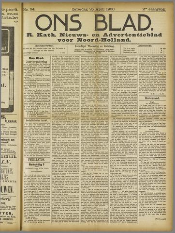 Ons Blad : katholiek nieuwsblad voor N-H 1908-04-25