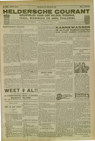 Heldersche Courant 1930-08-30