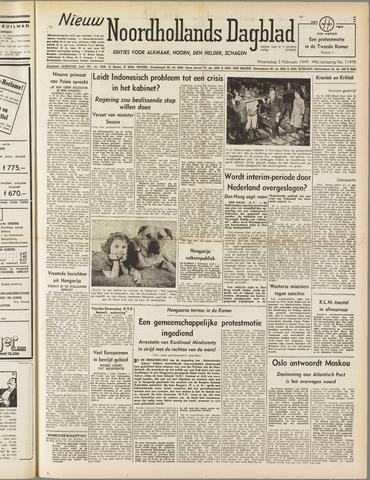 Nieuw Noordhollandsch Dagblad : voor Alkmaar en omgeving 1949-02-02