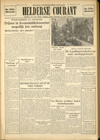 Heldersche Courant 1954-10-09