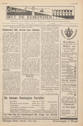 Contact met de Egmonden 1962-03-01