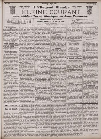Vliegend blaadje : nieuws- en advertentiebode voor Den Helder 1904-04-06