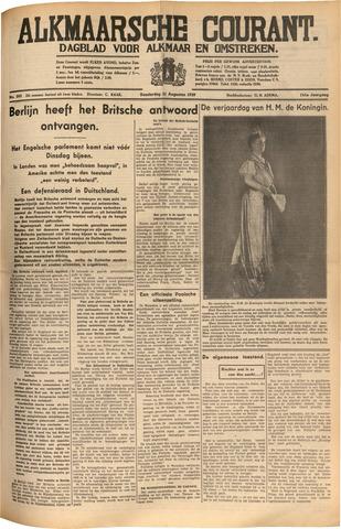 Alkmaarsche Courant 1939-08-31