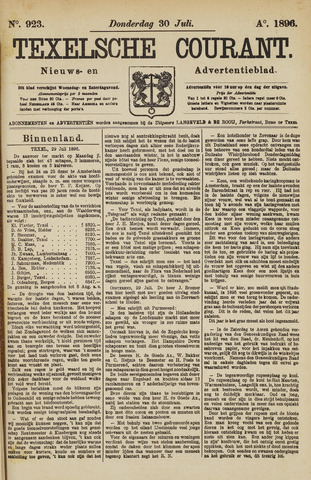 Texelsche Courant 1896-07-30