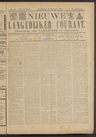 Nieuwe Langedijker Courant 1922-02-16