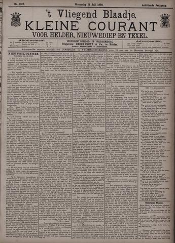 Vliegend blaadje : nieuws- en advertentiebode voor Den Helder 1890-07-16