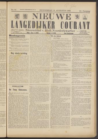 Nieuwe Langedijker Courant 1932-08-18