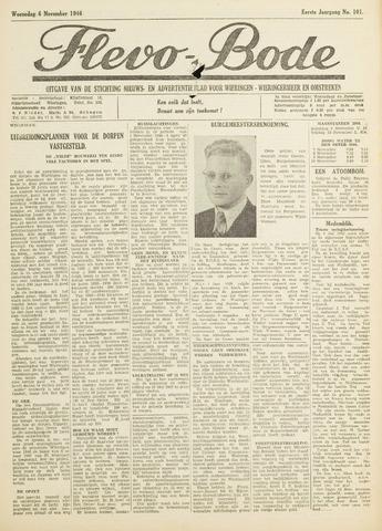 Flevo-bode: nieuwsblad voor Wieringen-Wieringermeer 1946-11-06