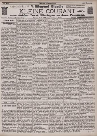 Vliegend blaadje : nieuws- en advertentiebode voor Den Helder 1912-02-17
