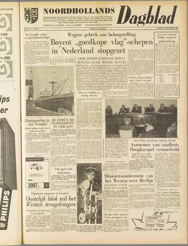 Noordhollands Dagblad : dagblad voor Alkmaar en omgeving 1958-12-02