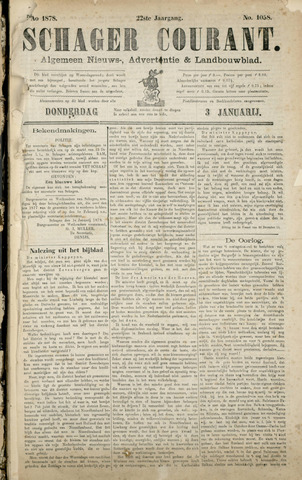 Schager Courant 1878