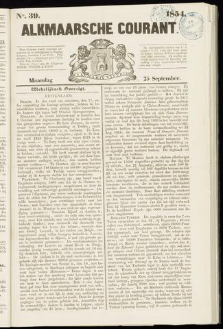 Alkmaarsche Courant 1854-09-25