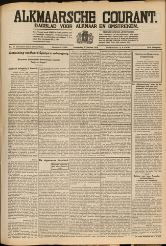 Alkmaarsche Courant 1939-02-09