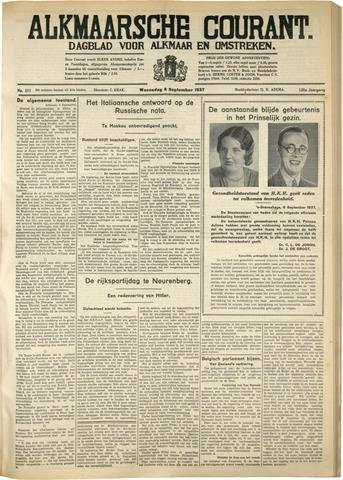 Alkmaarsche Courant 1937-09-08