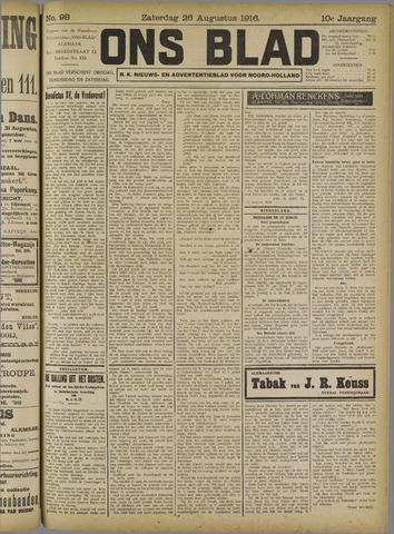 Ons Blad : katholiek nieuwsblad voor N-H 1916-08-26