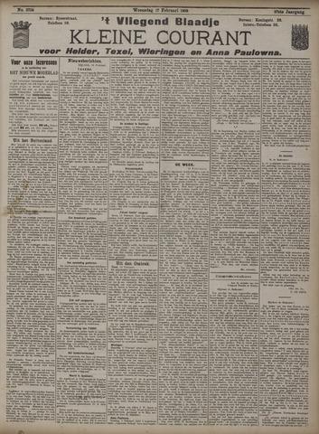 Vliegend blaadje : nieuws- en advertentiebode voor Den Helder 1909-02-17