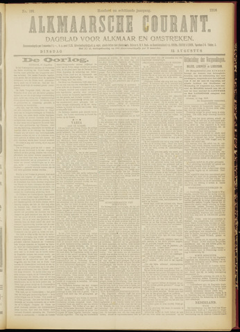 Alkmaarsche Courant 1916-08-15