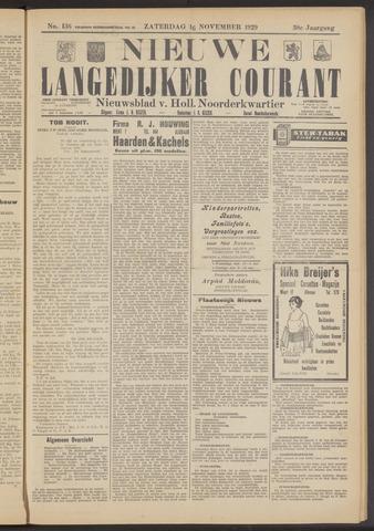 Nieuwe Langedijker Courant 1929-11-16