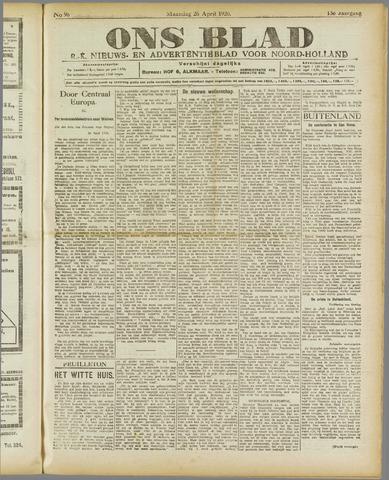 Ons Blad : katholiek nieuwsblad voor N-H 1920-04-26