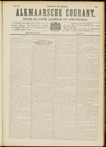 Alkmaarsche Courant 1909-07-29