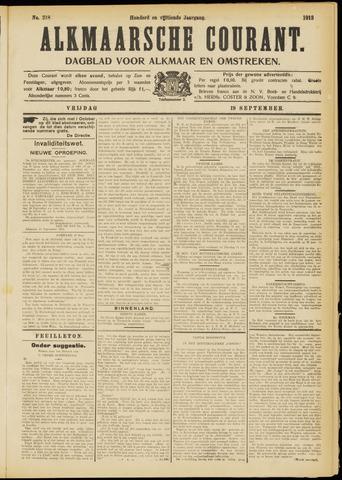 Alkmaarsche Courant 1913-09-19