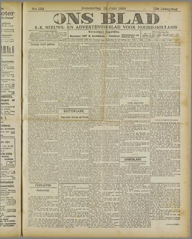 Ons Blad : katholiek nieuwsblad voor N-H 1919-06-12