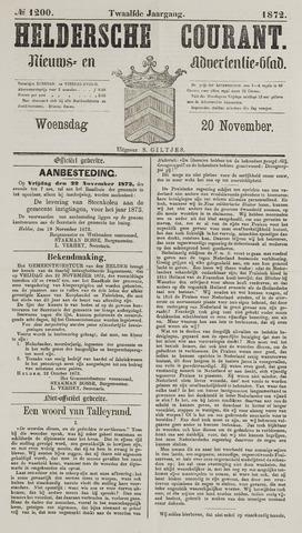 Heldersche Courant 1872-11-20