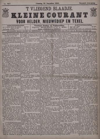 Vliegend blaadje : nieuws- en advertentiebode voor Den Helder 1881-08-16