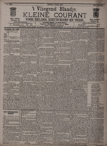 Vliegend blaadje : nieuws- en advertentiebode voor Den Helder 1895-10-05