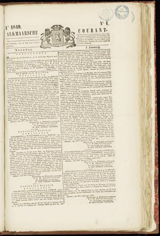 Alkmaarsche Courant 1849-01-01