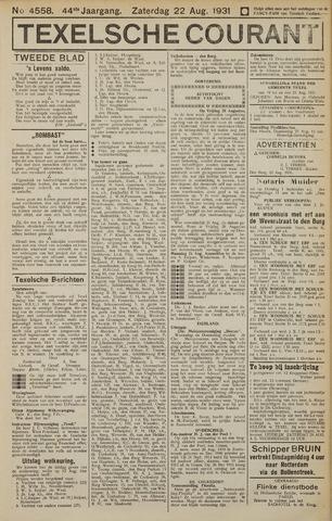 Texelsche Courant 1931-08-22