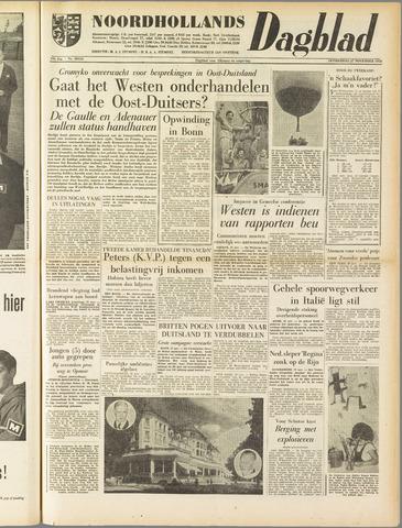 Noordhollands Dagblad : dagblad voor Alkmaar en omgeving 1958-11-27
