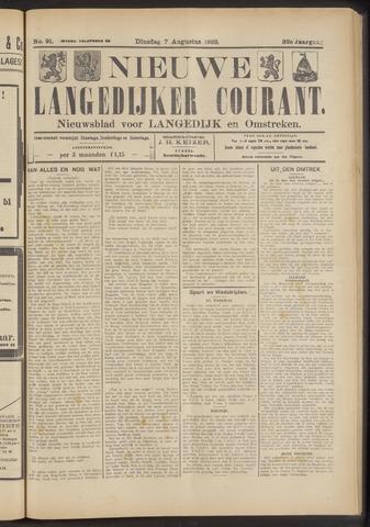 Nieuwe Langedijker Courant 1923-08-07