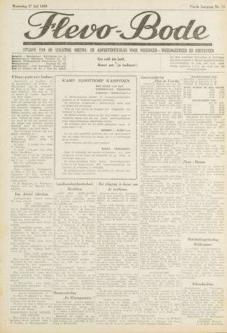 Flevo-bode: nieuwsblad voor Wieringen-Wieringermeer 1949-07-27