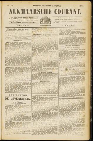 Alkmaarsche Courant 1901-03-01