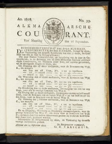 Alkmaarsche Courant 1808-09-26