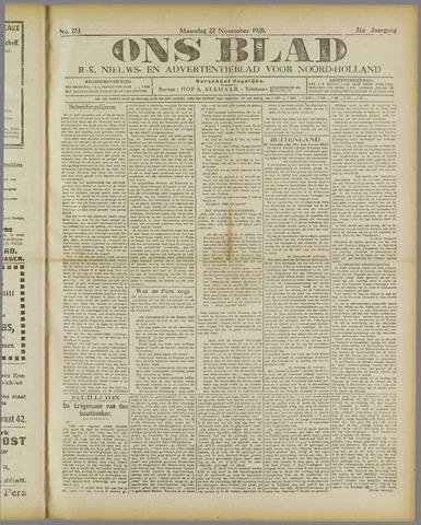Ons Blad : katholiek nieuwsblad voor N-H 1920-11-22
